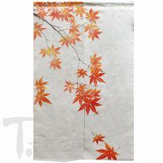 Autumn Maple Linen Noren. Noren CurtainsDoor ...