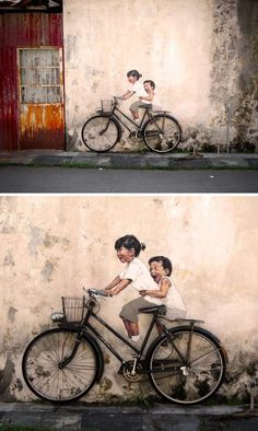 Interactive Paintings on the Streets of Malaysia - by Ernest Zacharevic