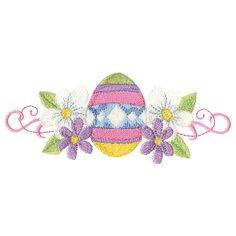 Free Embroidery Design: Easter Egg Border