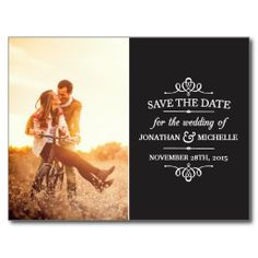 Simple Vintage Save the Date Post Cards  Created By dulceevents, Washington, DC, United States