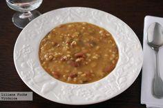 Alubias pintas con arroz y verduras. Receta saludable Tofu En Salsa, Vegetarian Recepies, Chana Masala, Veggies, Menu, Cooking, Ethnic Recipes, Food, Gastronomia
