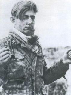 SS soldier captured in Caen. 1944