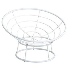 papasan outdoor white chair frame