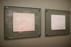 Letters from Vincent van Gogh to this brother Theo dated November 19, 1881, are displayed at the Vincent van Gogh museum on November 25, 2014 in Amsterdam, Netherlands. The new presentation of the permanent collection of Vincent van Gogh (1853-1890) works focuses on the development of the artist and the myths surrounding Van Gogh's suicide, illness and ear are discussed in detail for the first time at the museum. On the ground floor of the museum, visitor's first walk through an array of the…
