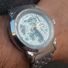Latest addition, a Sturhling skeleton automatic.  #TagsForLikes.COM #TFLers @TagsForLikes