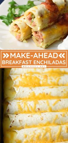 When life gets crazy, you will love this make-ahead breakfast for busy mornings! This enchilada recipe customizable every time and can also be doubled. You can even prepare this casserole earlier today if you want a dinner idea for tonight! Super easy and delicious! Protein Breakfast, Make Ahead Breakfast, Breakfast Items, Delicious Breakfast Recipes, Brunch Recipes, Dinner Recipes, Best Comfort Food, Comfort Foods, Frugal Meals