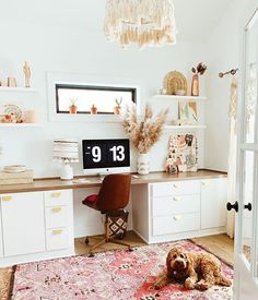Home office nook perfection. Workspace Design, Home Office Design, Home Office Decor, Home Decor, Home Interior, Interior Design, Ideas Para Organizar, Home Office Storage, My New Room