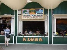Cheeseburger in Paradise, Waikiki.  This restaurant was so awesome! Totally loved our waitress, Jo!