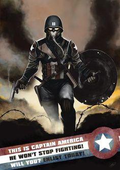 modernagecomics:    Captain America Zeroby~odingraphics