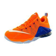 eea3c56b309 Nike Kid s Lebron Xii Low (Gs) Brightt Citrus White Orange Sr Basketball  Shoe