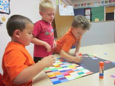 The Very Hungry Preschoolers: Cooperative Art