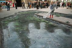 Julian Beever is back at it again! Amazing Street Art! #epic #streetart #art