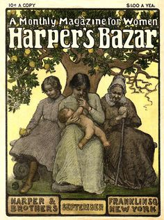 Harper's Bazar magazine, September 1902.... in my Pagan days I would have really loved this for the maiden/mother/crone imagery. Now, I just like it anyway!