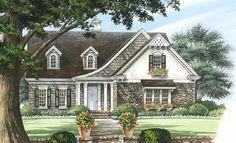 2103 sq ft, 5 bedrooms (2 on first floor) + bonus over garage.  Cottage House Plan - 32642WP, Narrow Lot, Butler Walk-in Pantry, Corner Lot, Architectural Designs