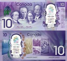Canada 10 Dollars 2017 Canadian Things, I Am Canadian, Money Notes, Coins Worth Money, Dollar Money, Money Stacks, Canadian History, Girl Guides, Coin Collecting