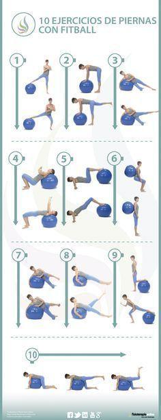 10 ejercicios para tonificar y recuperar tus piernas con fitball #pilatesparaembarazadas