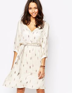 Sessun O Che Che Pinted Dress in Ivory