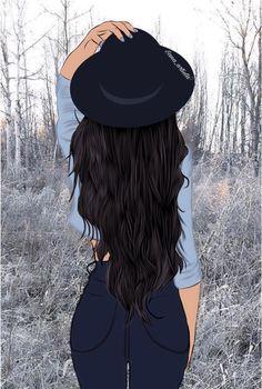 Girl Wallpaper - My Walpaper Cute Girl Drawing, Cartoon Girl Drawing, Cartoon Drawings, Pop Art Girl, Black Girl Art, Art Pop, Cartoon Kunst, Cartoon Art, Cartoon Memes