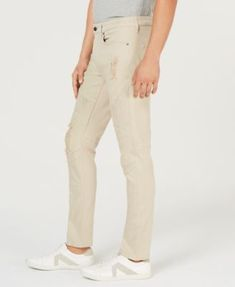 4a98ac2b0c6939 GUESS Men's Slim-Fit Tapered Moto Jeans & Reviews - Jeans - Men - Macy's