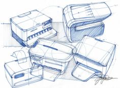 Sketch-A-Day 169: Printers Sketch-A-Day | Sketch-A-Day | Sketches by Spencer Nugent