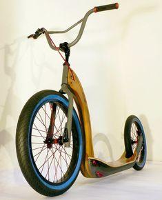 Heiko Brehm Holzdesign - Lampen und Leuchten aus Holz Wooden Bicycle, Wood Bike, Scooter Bike, Kick Scooter, Scooters, Triumph Motorcycles, Mopar, Scooter Design, Velo Vintage