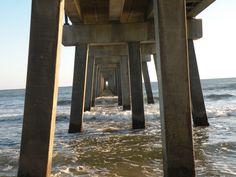 Under the Gulf Shores Pier