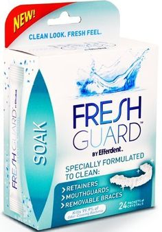 #top #Fresh #Guard by Efferdent in Soak (24 Packets of Crystals Per Box). Specially Formulated to Clean: Retainers, Mouthguards, & Removable Braces. Kills 99.9% o...