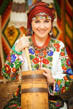 Ukraine - Wow, I wish I knew how she ties that incredible headwrap!