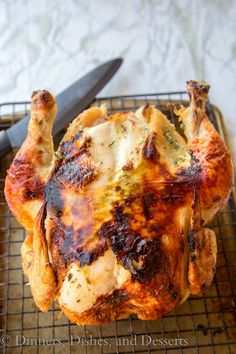 Easy Roast Chicken - a tender, juicy, and flavorful chicken is super easy and ready in no time!