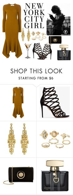 """Bold"" by chillstar ❤ liked on Polyvore featuring Victoria Beckham, Aquazzura, Charlotte Russe, Versus, Gucci and Andrea"