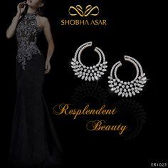 The best combination, a black dress and the glitter of diamonds! #ShobhaAsar #ShobhaAsarJewels #ShobhaAsarJewellery