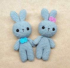 Wedding cake topper, Woodland animals, Easter bunny, baby birthday cake topper, Crochet rabbit