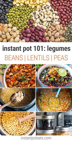 Instant Pot Legumes Learn How To Cook Beans, Lentils, Peas and other pulses in your pressure cooker pot recipes beans Instant Pot How to Cook Legumes - Instant Pot Eats Lentil Recipes, Bean Recipes, Instant Pot Pressure Cooker, Pressure Cooker Recipes, Pressure Cooking, Pressure Cooker Beans, Whole Food Recipes, Cooking Recipes, Healthy Recipes