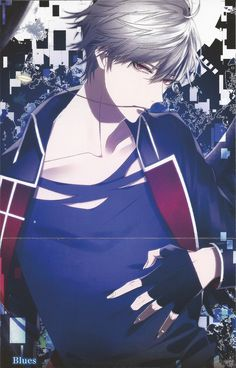 """noirliesl: """" Thanatos Night Drama CD Illustration Jackets """" Izaya-In your Eyes Nia-Capture Oliver-Midnight Seeker Seth-U are Devil Liam-Snow Drop Duran-Blues """" *These are my own scans. Please do not..."""