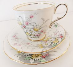 Vintage Paragon Bone China Tea Cup, Saucer  and Plate - China Trio - Tea For One Set