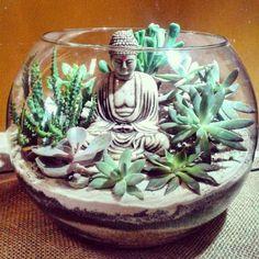 Ulsan Interior TD Company / Buddha Statue - All For Garden Garden Stones, Garden Paths, Garden Art, Meditation Corner, Meditation Garden, Indoor Garden, Indoor Plants, Outdoor Gardens, Succulent Terrarium