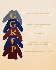 """Weasley children and jumpers gif  :D """"but we're not stupid, we know we're called Gred and Forge"""""""