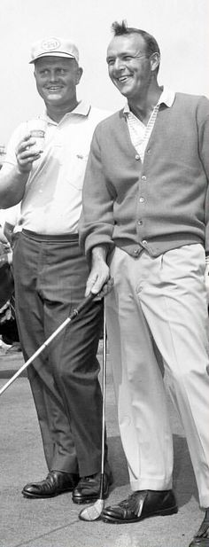 "Two incredible greats - Jack Nicklaus, the ""Golden Bear,"" and the unmatched Arnie Palmer.  I know how much Nicklaus appreciated the advice he got, and friendship he had, with Arnie!!"