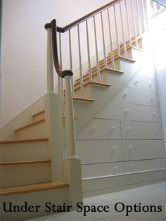 If you have stairs in your house, don't disregard the space underneath them.  Here are some ideas for maximizing the space under your stairs.