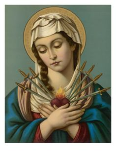 Seven Sorrows of the Blessed Virgin Mary ... http://corjesusacratissimum.org/2014/09/september-is-the-month-of-the-seven-sorrows-of-mary/