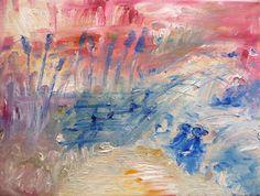 "Saatchi Art Artist MP XQS-I; Painting, ""Fishing lake on lazy sunday"" #art"