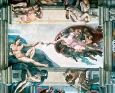 """Michaelangelo's """"Creation of Adam"""". Go see it in the Sistine Chapel. You won't be able to take your eyes off it."""