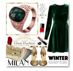 """""""Glam Duchess"""" by glamduchess ❤ liked on Polyvore featuring Sportmax, Dolce&Gabbana, Gucci, Kat Von D, Anndra Neen, Rika and Chanel"""