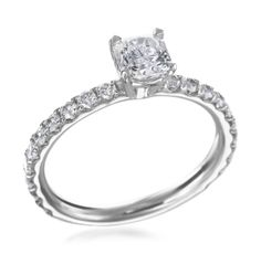 Platinum Pave .70ct Complete Engagement Ring by Hearts on Fire