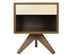 Hillcrest Square Side Table by Bungalow House - Made in USA! Square Side Table, Ottawa Canada, House Built, House Made, White Oak, Modern Lighting, Wood Grain, Bungalow, Drawer