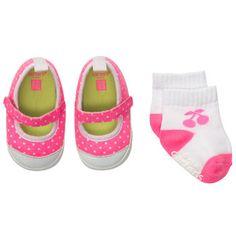 Pre-Walker Mary Janes & Sock Set