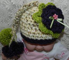 Beautiful Hand Crochet  Baby Girl Cap Baby Girl by picoloknitting, $23.00