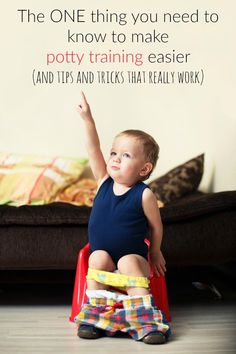 The one thing you need to know to make potty training easier! And potty training tips and tricks that actually work!