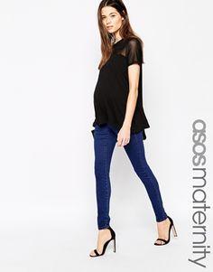 ASOS Maternity ''Sculpt Me'' Premium Jean Jegging In Rich Blue