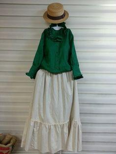올리브의 린넨스토리 - 얇고 보드라워 블라... : 카카오스토리 Coat Dress, Lace Skirt, Green, Skirts, Ideas, Dresses, Fashion, Entertaining, Dressing Rooms